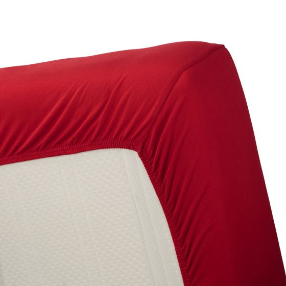 Beddinghouse jersey Splittopper hoeslaken rood